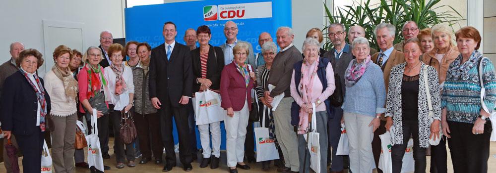 Senioren-Union aus Brühl – meine letzte Besuchergruppe in dieser Legislaturperiode