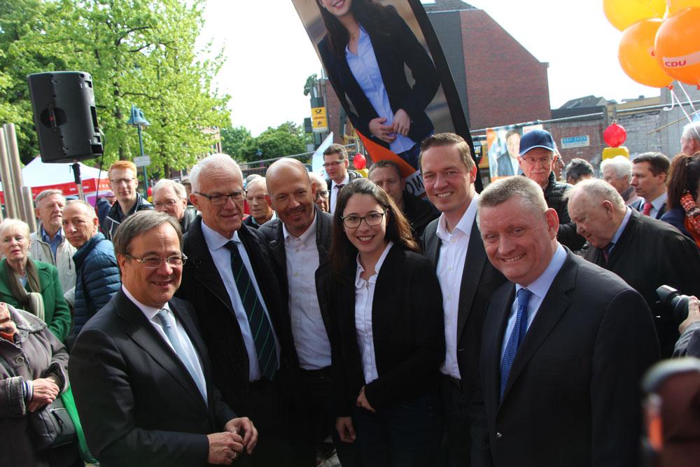 Wahlkampfendspurt: Armin Laschet und Hermann Gröhe unterstützen Landtagswahlkämpfer vor Ort