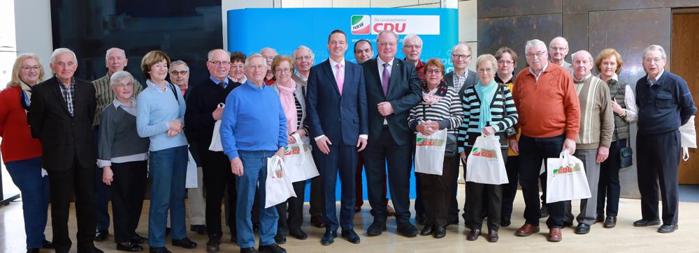 Bedburger Senioren besuchen den Landtag
