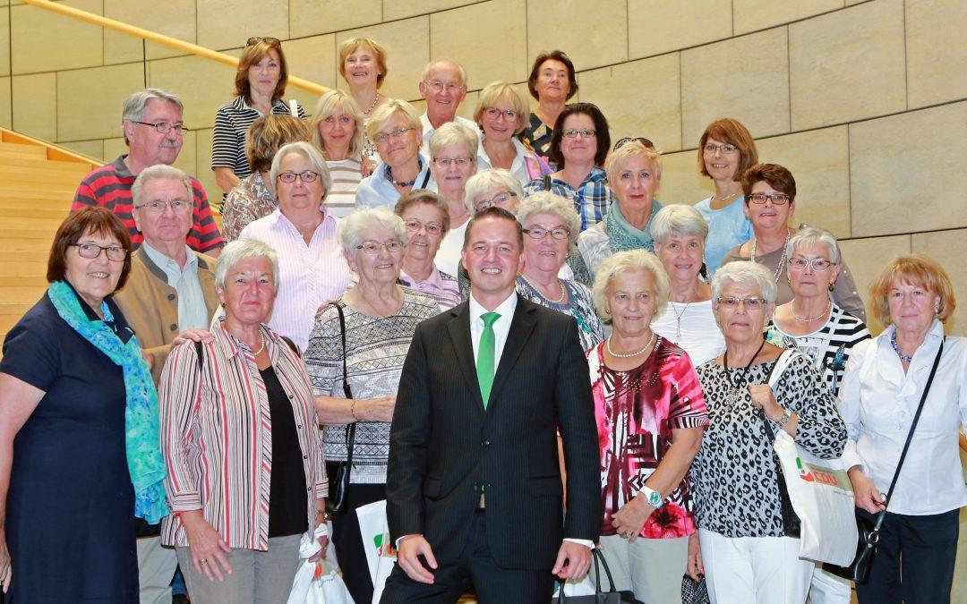 Senioren-Sportgruppe im Landtag