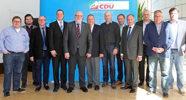 Gewerkschafter zu Besuch im Landtag