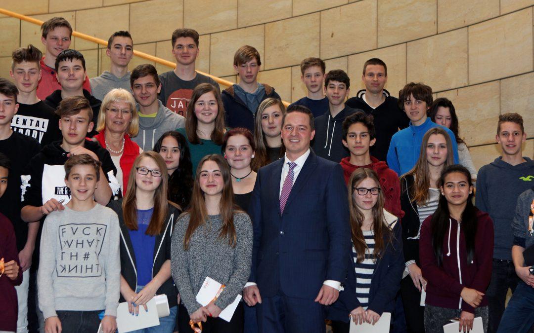 Brühler Realschüler im Landtag