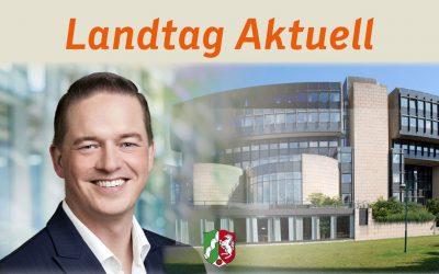 Landtag Aktuell 384 – Sport im Freien teils wieder erlaubt, Ortstermin am Sindorfer Südkreisel, Hürther Umgehung fertiggestellt
