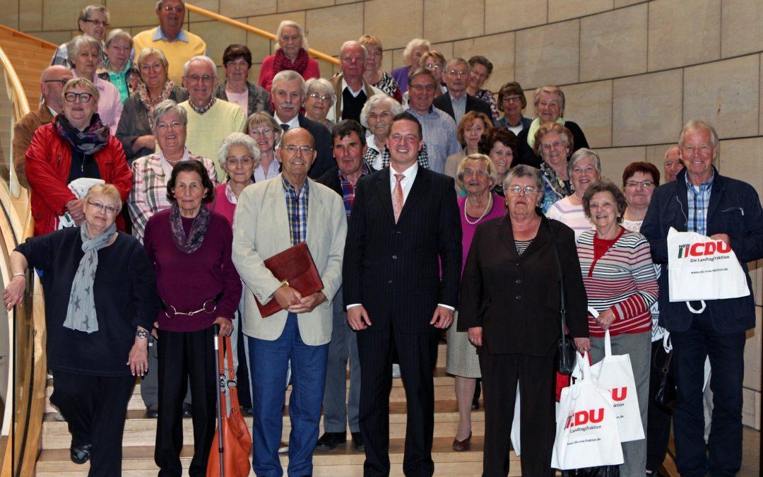 Senioren-Union Bergheim zu Gast im Landtag