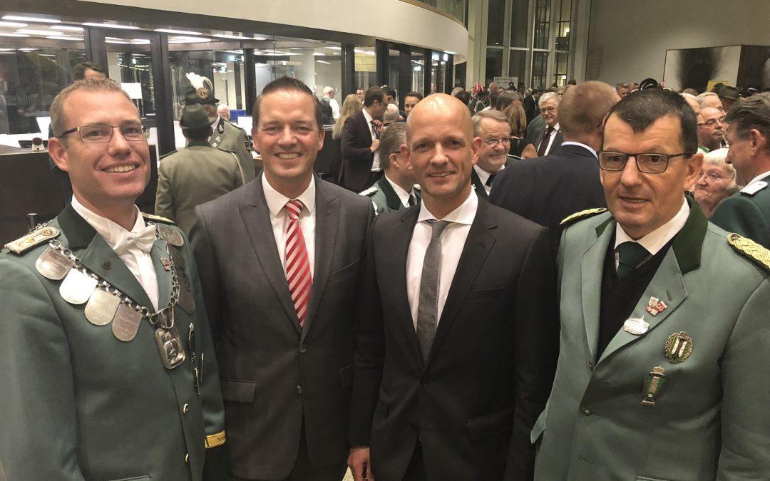 Wesselinger Schützen beim Parlamentarischen Abend