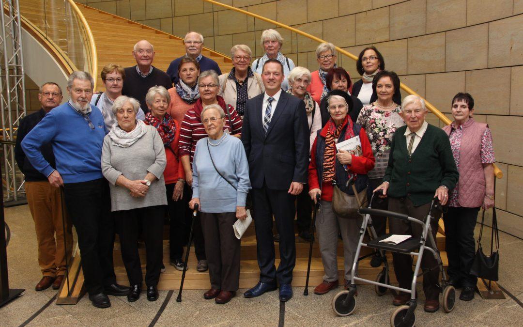 Seniorenkreis St. Stephan zu Gast im Landtag