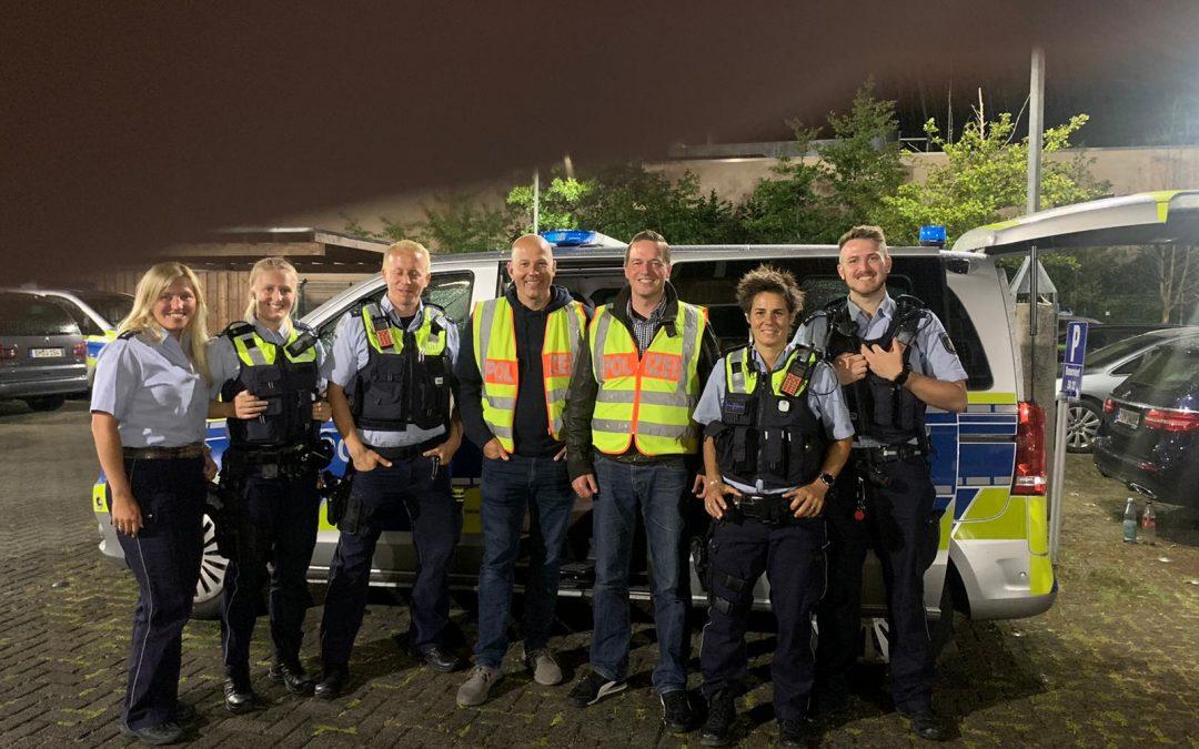 Auf Streife: Landtagsabgeordnete Golland und Rock begleiten Nachtschicht der Polizei Kerpen
