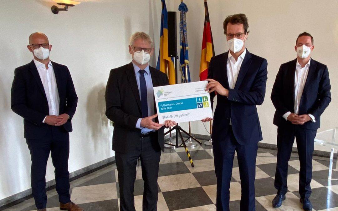 Golland begrüßt Teilnahme der Stadt Brühl am Fußverkehrs-Check 2021